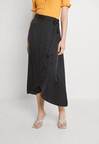 Monki - Maxi skirt - black dark - 0