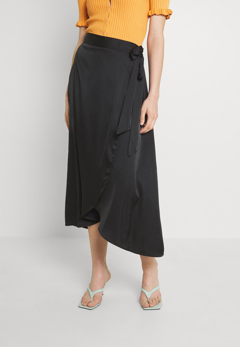 Monki - Maxi skirt - black dark