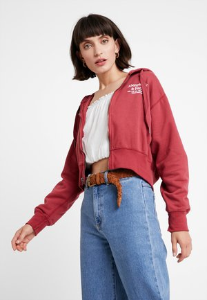 LOGO FULLZIP - Zip-up hoodie - red