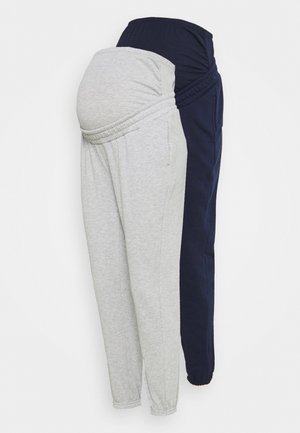 2 PACK - LOOSE FIT JOGGERS - OVERBUMP - Træningsbukser - dark blue/light grey