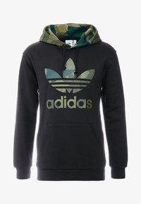 adidas Originals - CAMO TREFOIL GRAPHIC HODDIE SWEAT - Bluza z kapturem - black - 4
