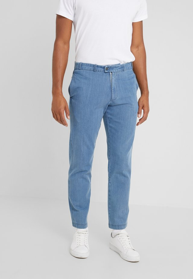 DAVE - Trousers - washed blue denim