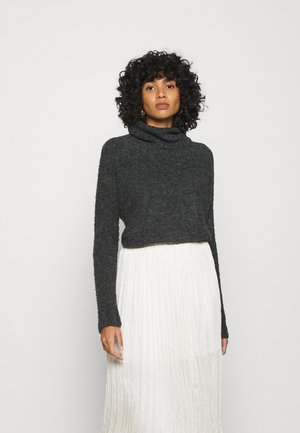 ONLOLIVIA LOOSE ROLLNECK  - Jumper - charcoal gray