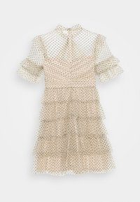 By Malina - LIONA DOTTED DRESS - Cocktailjurk - soft beige - 1
