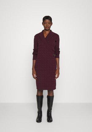 MADASKA LONG SLEEVE CASUAL DRESS - Jumper dress - pinot noir
