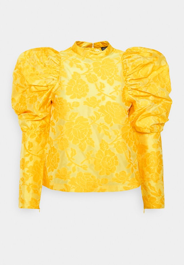 SANDY PUFF SLEEVE BLOUSE - Blouse - yellow
