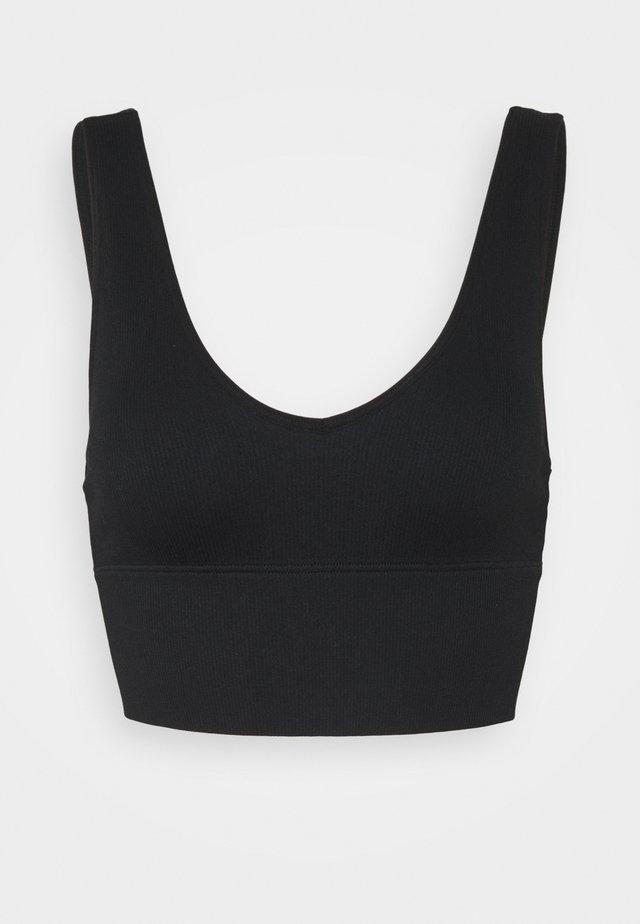 SEAMLESS PLUNGE - Bikinitoppe - black