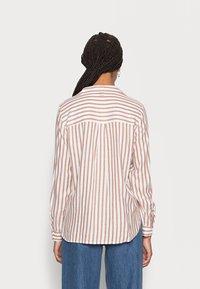 TOM TAILOR DENIM - STRIPED COZY  - Button-down blouse - grey white vertical stripe - 2