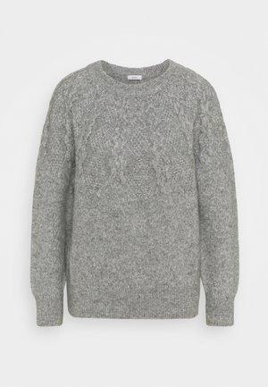 CREW NECK - Svetr - grey heather melange