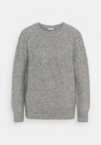 CREW NECK - Stickad tröja - grey heather melange