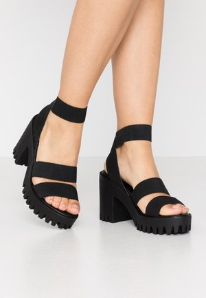 SOHOO - High heeled sandals - black