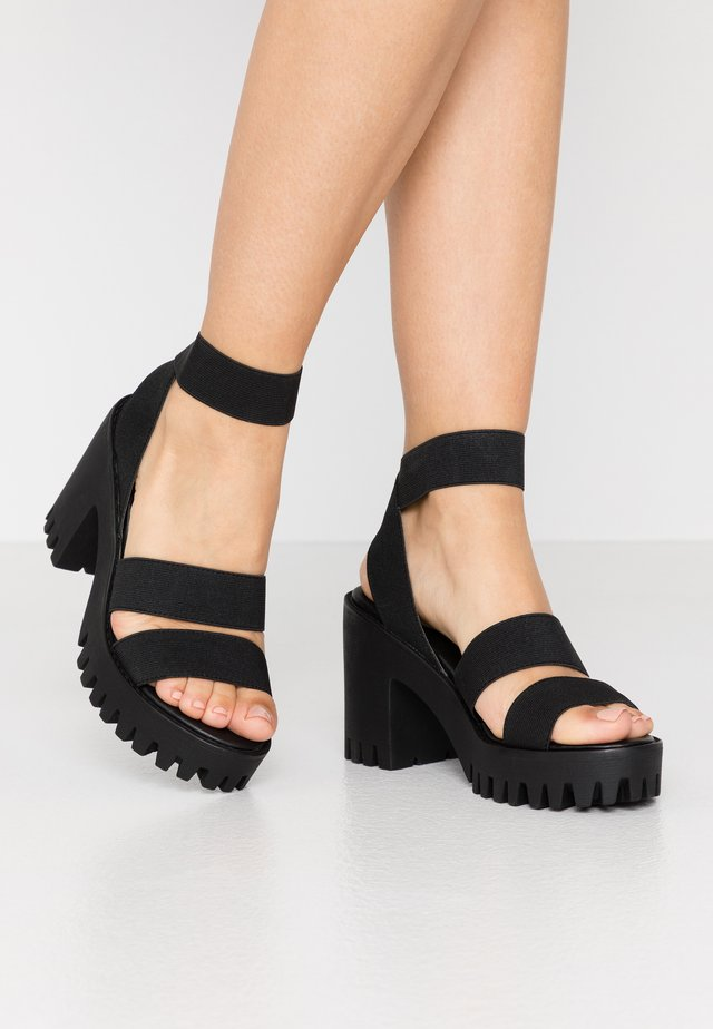 SOHOO - Korolliset sandaalit - black
