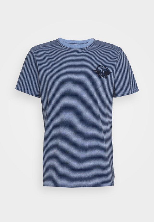 LOGO TEE - T-shirt z nadrukiem - blue