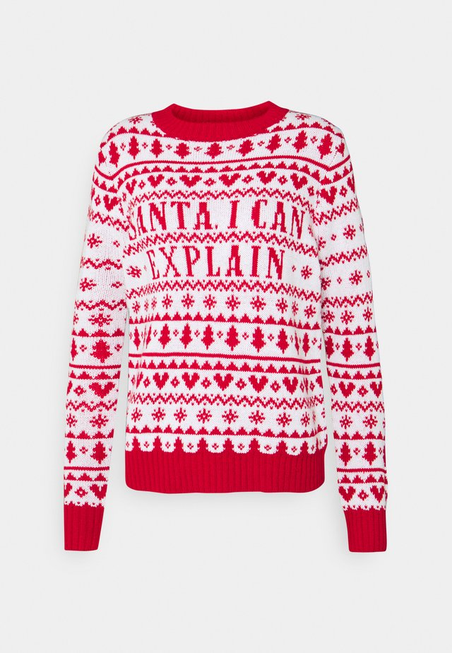 SANTA I CAN EXPLAIN - Pullover - red