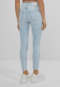 Bershka - SUPER HIGH WAIST - Jeans Skinny Fit - blue denim - 2