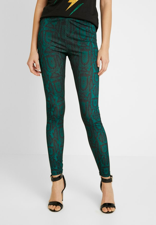 SLIM FIT PANTS - Kangashousut - green snake