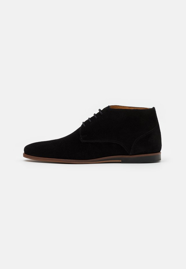 LEATHER - Chaussures à lacets - black
