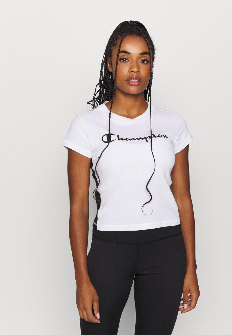 Champion - CREWNECK LEGACY - T-Shirt print - white