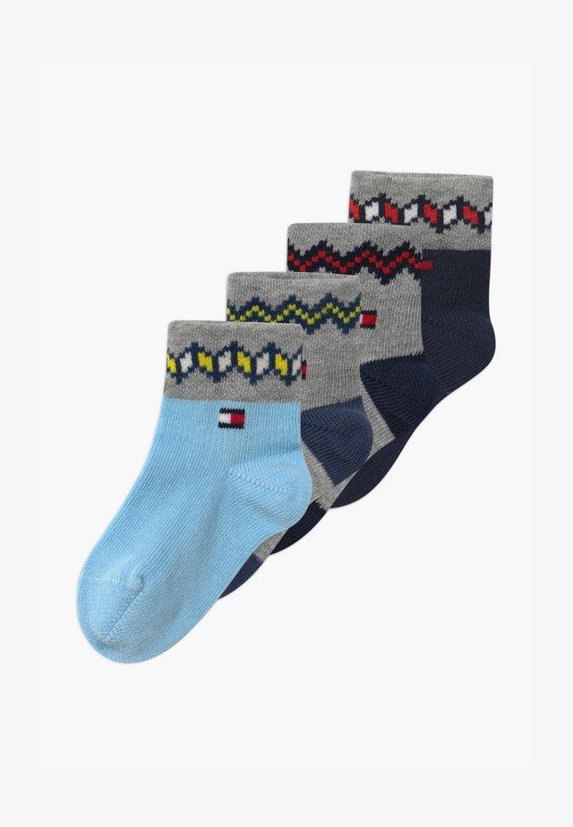 FAIRISLE 4 PACK  - Ponožky - blue combo