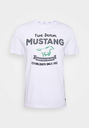 ALEX PRINT - Print T-shirt - general white
