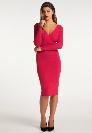 Pouzdrové šaty - rot