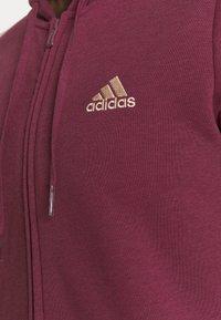 adidas Performance - Zip-up sweatshirt - victory crimson/halo blush - 5