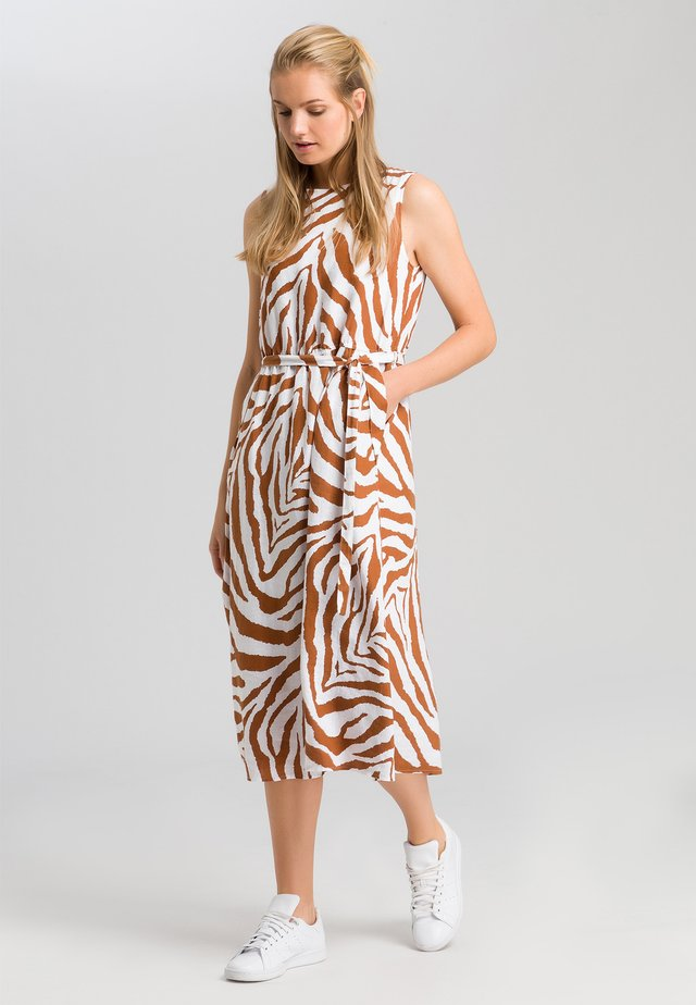 MIT TIGERMUSTER - Day dress - white varied
