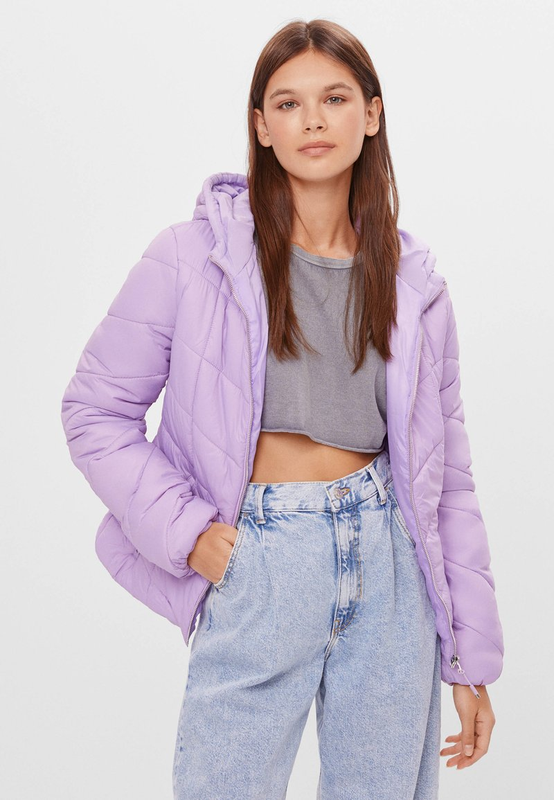 Bershka - Winter jacket - mauve