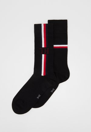 SOCK ICONIC STRIPE 2 PACK - Calze - black
