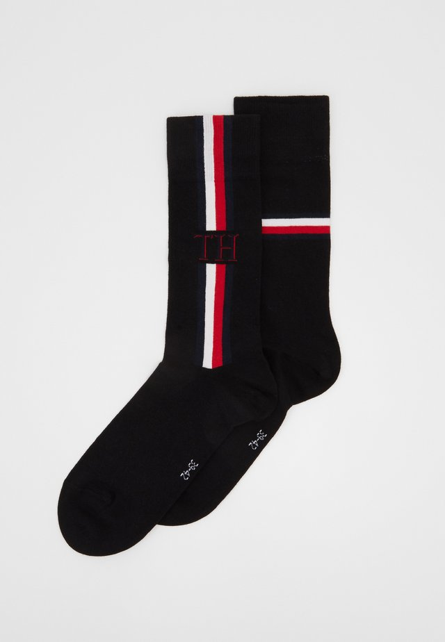 SOCK ICONIC STRIPE 2 PACK - Socks - black