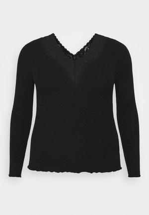PCSIRI CURVE - Maglietta a manica lunga - black
