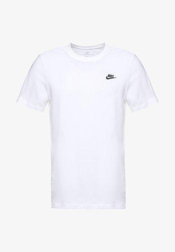CLUB TEE - Basic T-shirt - white/black