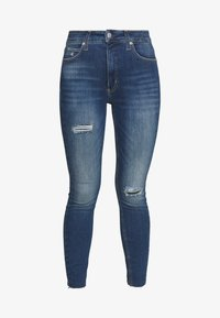 Calvin Klein Jeans - HIGH RISE SUPER ANKLE - Jeans Skinny - mid blue - 4