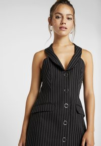 4th & Reckless Petite - MINI DRESS - Shirt dress - black - 3
