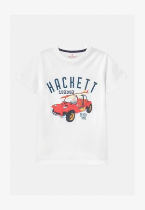 BEACH TIME CARS - Print T-shirt - white