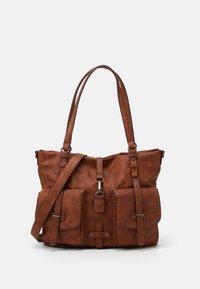Tamaris - BERNADETTE  - Shopping Bag - cognac - 0