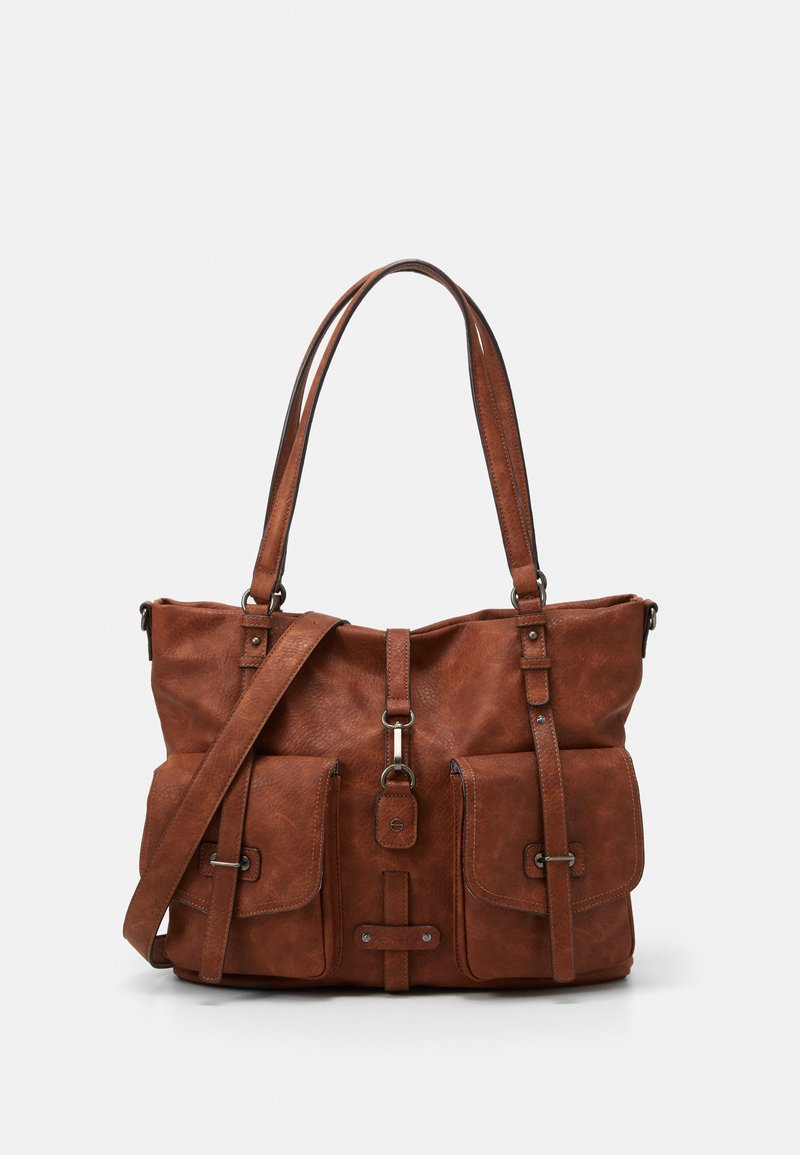 Tamaris - BERNADETTE  - Shopping Bag - cognac
