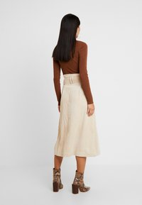 Topshop - BELTED MIDI - Maxi skirt - stone - 2