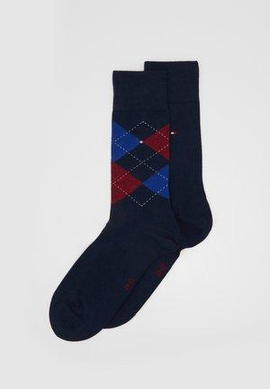 MEN SOCK CHECK 2 PACK - Socks - dark blue/blue