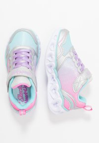 Skechers - HEART LIGHTS - Sneakers laag - silver/multicolor - 1
