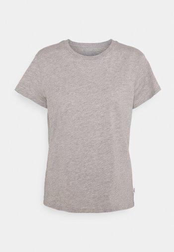 SLIM FIT TEE - Basic T-shirt - grey mele