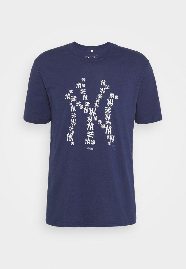 NEW YORK YANKEES INFILL CORE GRAPHIC - T-shirt print - navy