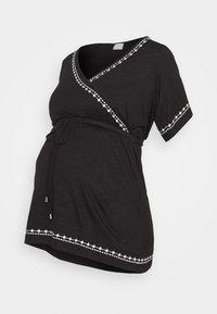 MAMALICIOUS - MLKATE TESS - Print T-shirt - black/white - 0