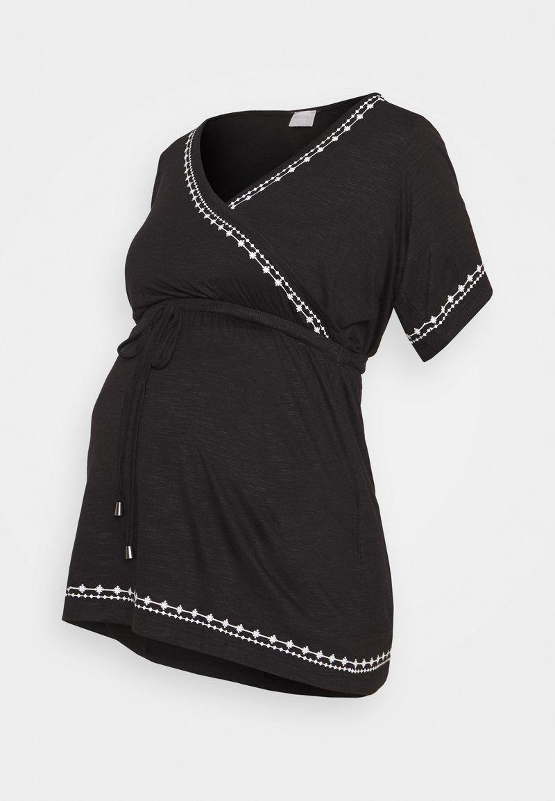 MAMALICIOUS - MLKATE TESS - Print T-shirt - black/white