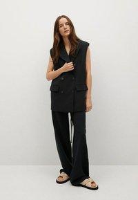 Mango - Trousers - black - 1