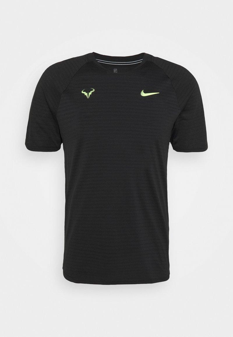 Nike Performance - RAFAEL NADALEL NADAL - Print T-shirt - black/volt