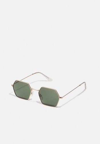 JASON UNISEX - Sunglasses - gold-coloured/green
