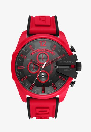MEGA CHIEF - Chronograph watch - red/black