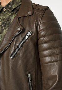 Serge Pariente - HIPSTER  - Leather jacket - khaki - 5