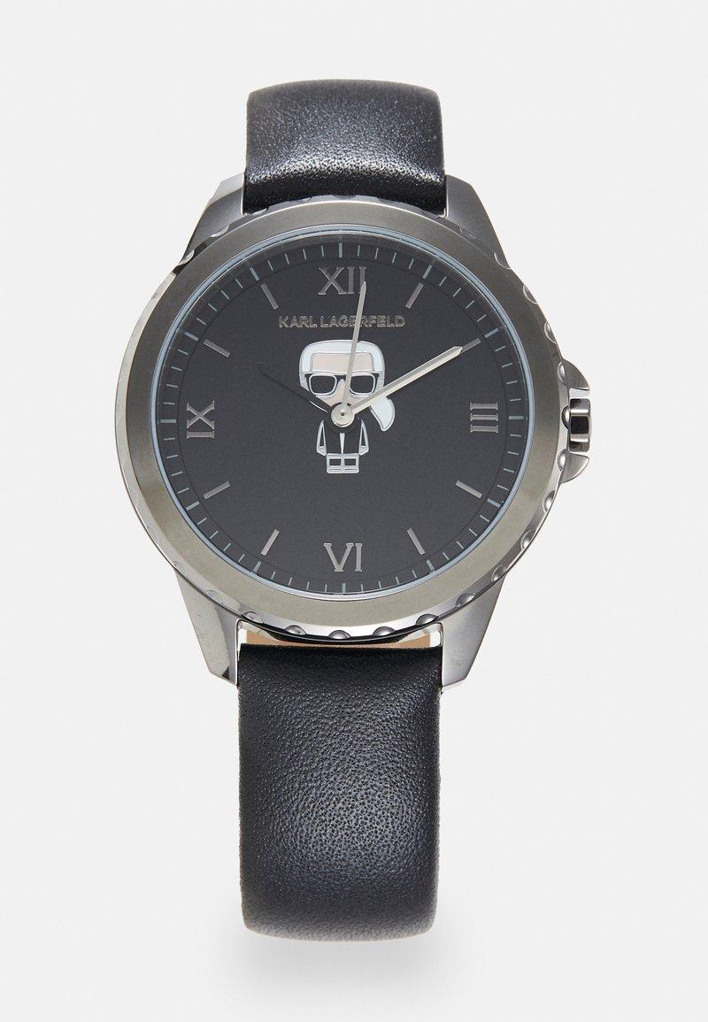 KARL LAGERFELD - IKONIK DIVER STRAP - Watch - gunmetal